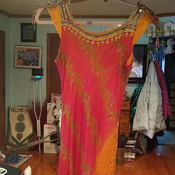 Neeru's Dress Indian Bollywood- Sz 8- bead sequins